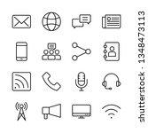 communication vector line icons ...   Shutterstock .eps vector #1348473113