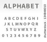 gray vector abstract alphabet... | Shutterstock .eps vector #134848010