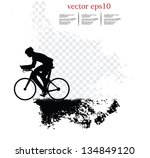 sport road bike rider bicycle.... | Shutterstock .eps vector #134849120