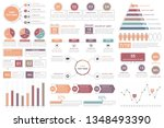 infographic elements   bar and... | Shutterstock .eps vector #1348493390