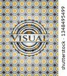 visual arabesque badge. arabic... | Shutterstock .eps vector #1348495499