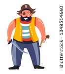 sea criminal pirate with eye... | Shutterstock .eps vector #1348514660