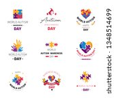 puzzle and hands world autism...   Shutterstock .eps vector #1348514699