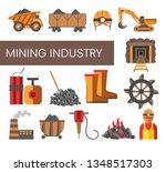 coal mine mining industry...   Shutterstock .eps vector #1348517303