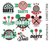aim or target darts game... | Shutterstock .eps vector #1348517306