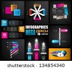 infographic design templates...   Shutterstock .eps vector #134854340
