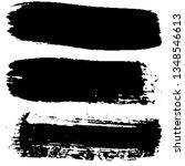 grunge brush strokes collection | Shutterstock .eps vector #1348546613