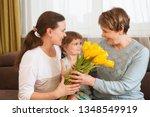 portrait of happy grandma ... | Shutterstock . vector #1348549919
