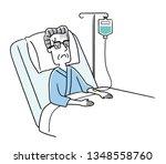 senior man being hospitalized | Shutterstock .eps vector #1348558760