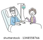 senior man and wife being... | Shutterstock .eps vector #1348558766