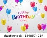 happy birthday balloons... | Shutterstock .eps vector #1348574219