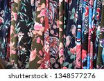 shirts and blouses at the... | Shutterstock . vector #1348577276