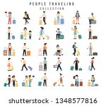 travel people. airport tourist... | Shutterstock .eps vector #1348577816