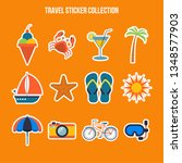travel and tourism flat icons... | Shutterstock .eps vector #1348577903