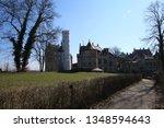 castle lichtenstein swabian jura   Shutterstock . vector #1348594643
