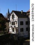 castle lichtenstein swabian jura   Shutterstock . vector #1348594670