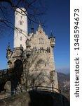 castle lichtenstein swabian jura   Shutterstock . vector #1348594673