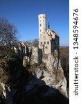 castle lichtenstein swabian jura   Shutterstock . vector #1348594676