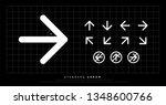 arrow icon modern standard... | Shutterstock .eps vector #1348600766