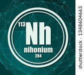 nihonium chemical element. sign ... | Shutterstock .eps vector #1348604663