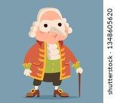 fancy mask wig cane adult noble ... | Shutterstock .eps vector #1348605620