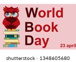 World Book Day. Smart Owl On...
