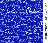 handlettering london pattern.... | Shutterstock .eps vector #1348624220
