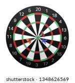 dartboard. 3d rendering... | Shutterstock . vector #1348626569