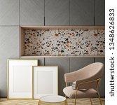 kitchen interior wall mock up...   Shutterstock . vector #1348626833
