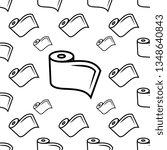 roll icon seamless pattern  mat ... | Shutterstock .eps vector #1348640843