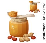 peanut butter. detailed icon...   Shutterstock . vector #1348641749