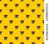 empty plastic market trolley...   Shutterstock .eps vector #1348643513