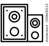 audio isolated vector icon... | Shutterstock .eps vector #1348650113