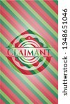 claimant christmas badge. | Shutterstock .eps vector #1348651046