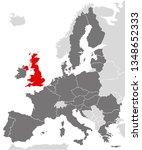 vector graphic map of europe... | Shutterstock .eps vector #1348652333