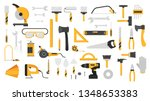 hand tool set. collection of... | Shutterstock .eps vector #1348653383