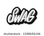 swag. vector lettering.         ... | Shutterstock .eps vector #1348656146