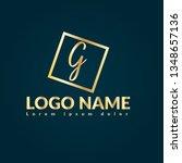 letter g gold logo concept....