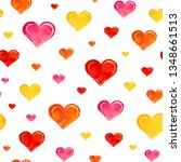 seamless pattern with colorful... | Shutterstock .eps vector #1348661513