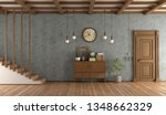 retro home entrace with... | Shutterstock . vector #1348662329