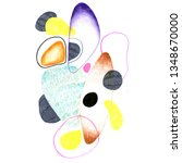hand drawn abstract composition ... | Shutterstock . vector #1348670000