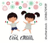 Italy Republic Day Card With...