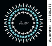 round jewellery frame with... | Shutterstock .eps vector #1348681556