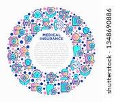 medical insurance concept in... | Shutterstock .eps vector #1348690886