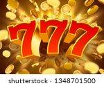 golden slot machine 777 with... | Shutterstock .eps vector #1348701500