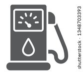 petrol glyph icon  fuel and... | Shutterstock .eps vector #1348703393