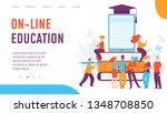 vector on line education ... | Shutterstock .eps vector #1348708850