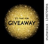 time for giveaway   banner... | Shutterstock .eps vector #1348709846