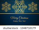 merry christmas greeting card.... | Shutterstock .eps vector #1348710179