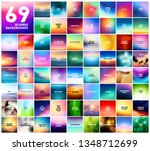 big set of 69 abstract colorful ... | Shutterstock .eps vector #1348712699
